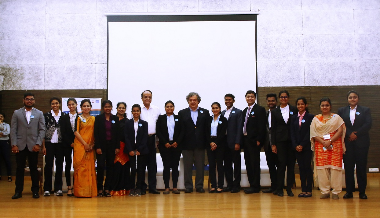 Dr. Christopher J Logothetis with participants, speakers for Cancer-India 2019 at Somaiya Vidyavihar