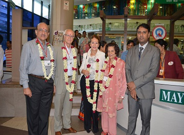 Eminent doctors delievered lectures on cochlear implantation